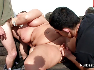German Mother get Fuck Public with two young German Boys