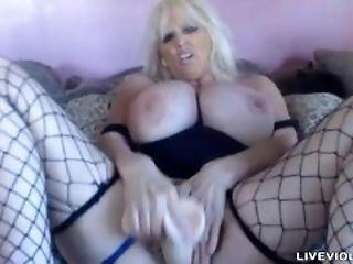 Huge round titted mature porn celeb Tia Gunn