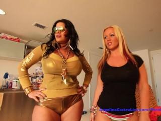Angelina Castro & Austin Taylor Hardcore Threeway!