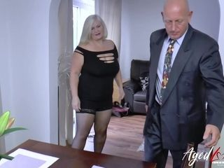 AgedLovE Lacey Starr plus Paul Hardcore step