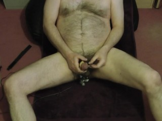 Multi-vibrator jism after trio hours of edging