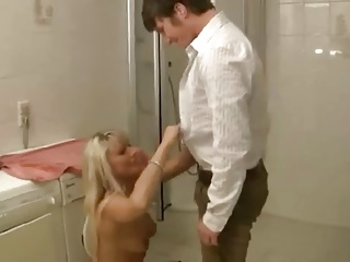 Hot blonde german mature fucked and fisted by younger guy