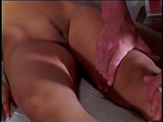 Sexy young girl gets her pussy fingered then guy fucks her wet pussy