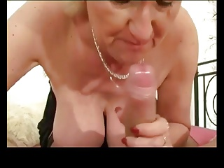 Horny blonde granny (lovely titts)