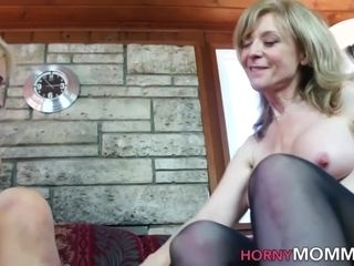 Mature step-mother smacks