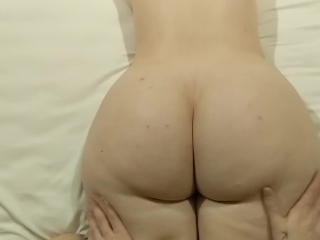 Rubdown AND buttfuck MAKES phat ass white girl jism