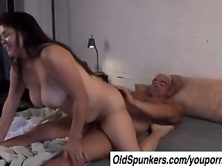 Patty is a beautiful big tits brunette MILF who loves the taste of cum