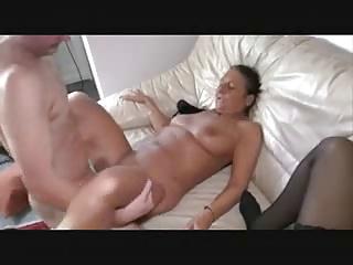 Saggy german matures sharing a cock