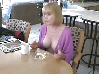 Sexy mom and lucky not son