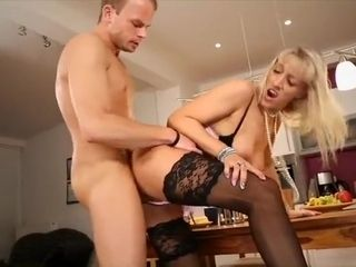 Totally Hot mummy Fucked hard by the brush Son's join up