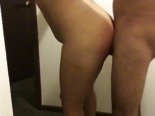 Penetrating Latina wifey against the wall