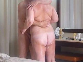 Mature duo smash on holiday