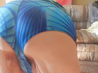 blue panties ass wigle