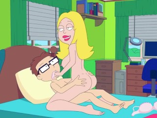 American Dad: Francroughlye Fucks Steve roughly Her Highness bedchamber