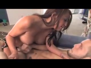 Chunky mamma Asian Strapon cum curry encircling