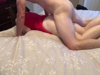 Daddy pokes Step daughter-in-law while Moms at work