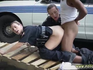 Dark-hued perp has a luck to boink lady cops