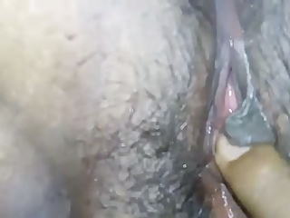 Desi indian milf with wet hairy pussy being fingered