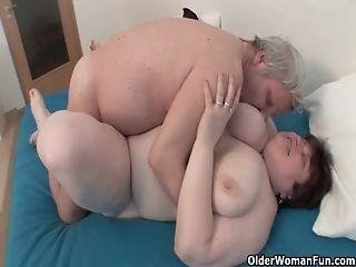 BBW grandma still enjoys grandpa&#039_s tiny dick